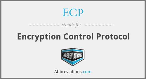 ECP - Encryption Control Protocol