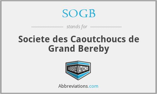 SOGB - Societe des Caoutchoucs de Grand Bereby