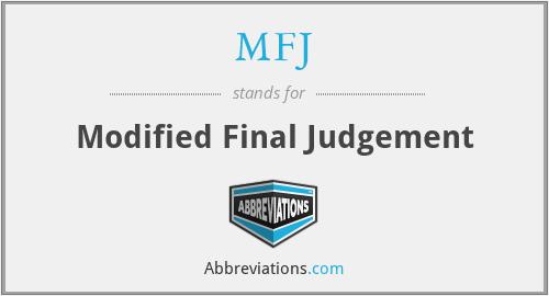 MFJ - Modified Final Judgement