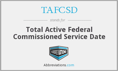 What does TAFCSD stand for?