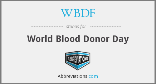 WBDF - World Blood Donor Day