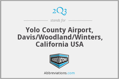 2Q3 - Yolo County Airport, Davis/Woodland/Winters, California USA