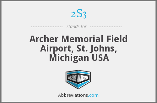2S3 - Archer Memorial Field Airport, St. Johns, Michigan USA