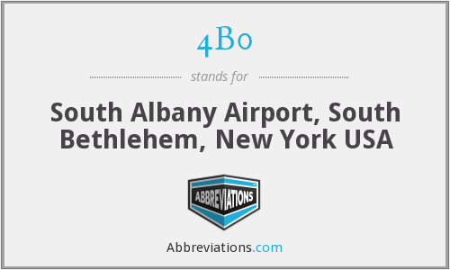 4B0 - South Albany Airport, South Bethlehem, New York USA