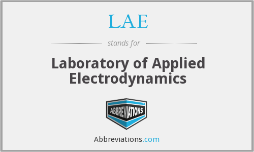 LAE - Laboratory of Applied Electrodynamics
