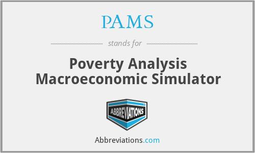 PAMS - Poverty Analysis Macroeconomic Simulator