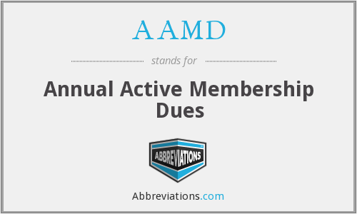 AAMD - Annual Active Membership Dues