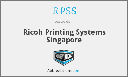 RPSS - Ricoh Printing Systems Singapore