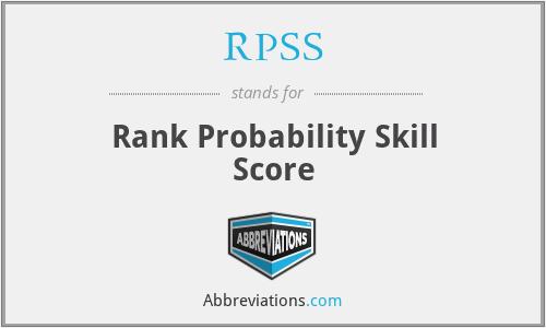 RPSS - Rank Probability Skill Score