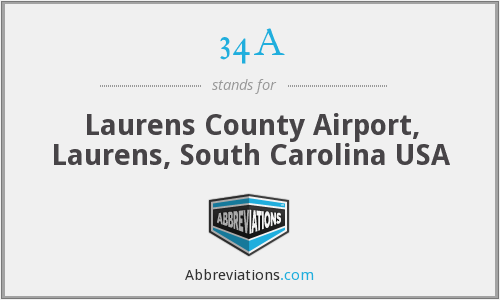 34A - Laurens County Airport, Laurens, South Carolina USA