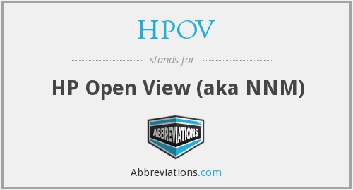 What does HPOV stand for?