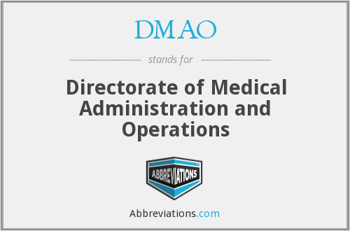 What does DMAO stand for?