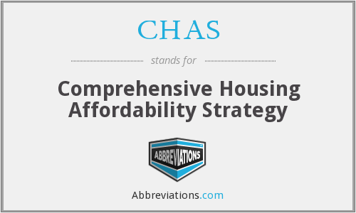 CHAS - Comprehensive Housing Affordability Strategy