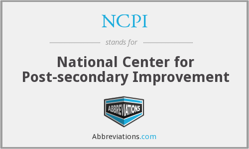 NCPI - National Center for Post-secondary Improvement