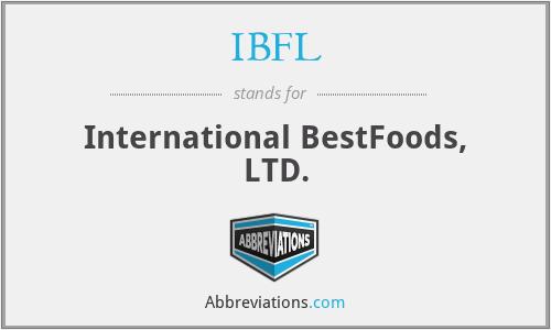 IBFL - International BestFoods, LTD.