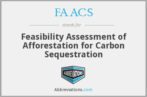 FAACS - Feasibility Assessment of Afforestation for Carbon Sequestration