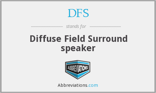 DFS - Diffuse Field Surround speaker