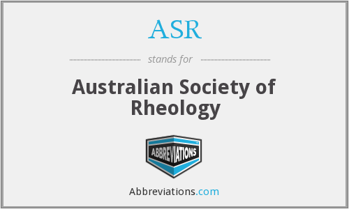 ASR - Australian Society of Rheology