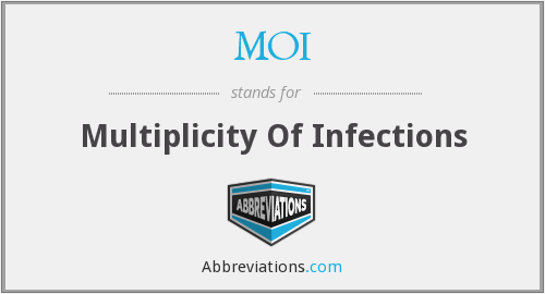 MOI - Multiplicity Of Infections