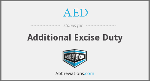AED - Additional Excise Duty