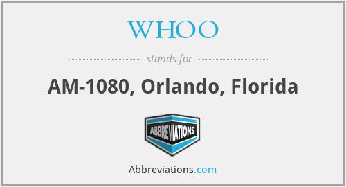WHOO - AM-1080, Orlando, Florida