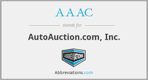AAAC - AutoAuction.com, Inc.