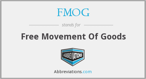 FMOG - Free Movement Of Goods