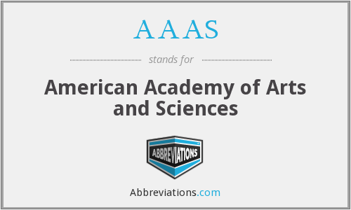 AAAS - American Academy of Arts and Sciences