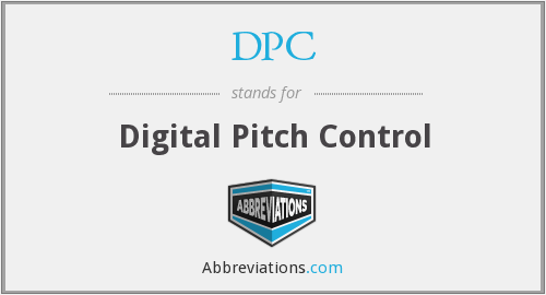 DPC - Digital Pitch Control