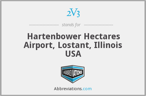 2V3 - Hartenbower Hectares Airport, Lostant, Illinois USA