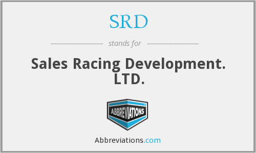 SRD - Sales Racing Development. LTD.