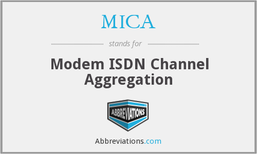 MICA - Modem ISDN Channel Aggregation