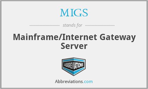 MIGS - Mainframe/Internet Gateway Server