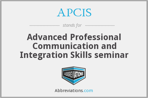 APCIS - Advanced Professional Communication and Integration Skills seminar