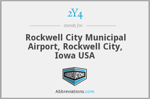 2Y4 - Rockwell City Municipal Airport, Rockwell City, Iowa USA