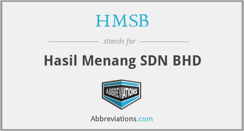 HMSB - Hasil Menang SDN BHD