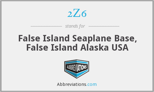 2Z6 - False Island Seaplane Base, False Island Alaska USA