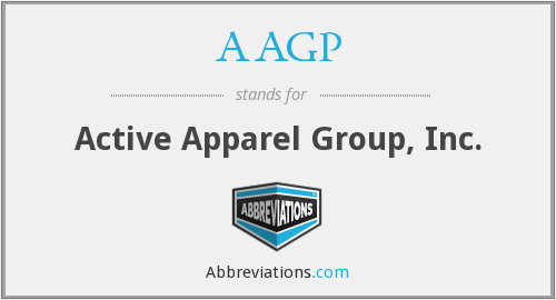 AAGP - Active Apparel Group, Inc.