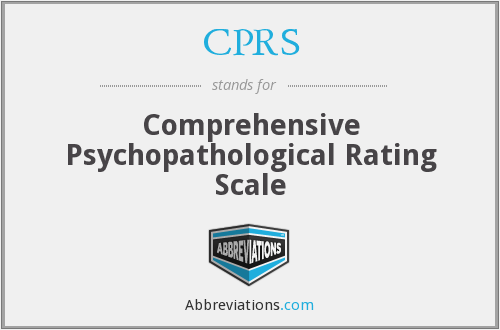 CPRS - Comprehensive Psychopathological Rating Scale
