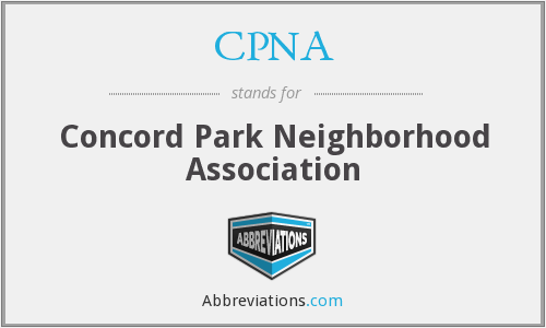 CPNA - Concord Park Neighborhood Association