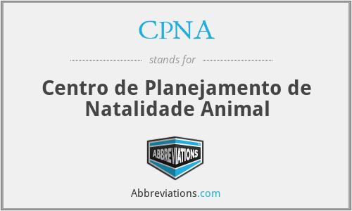 CPNA - Centro de Planejamento de Natalidade Animal