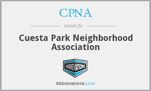 CPNA - Cuesta Park Neighborhood Association
