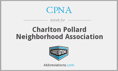 CPNA - Charlton Pollard Neighborhood Association