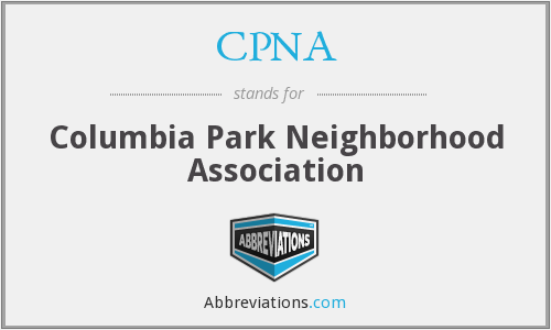 CPNA - Columbia Park Neighborhood Association