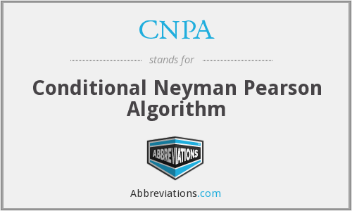 CNPA - Conditional Neyman Pearson Algorithm