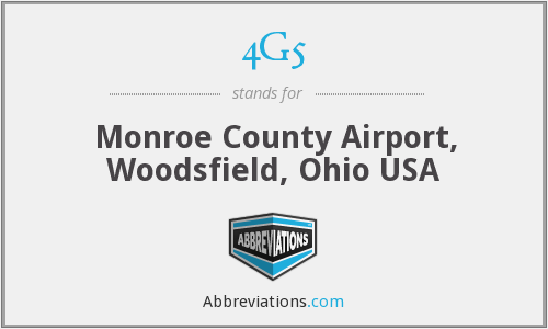 4G5 - Monroe County Airport, Woodsfield, Ohio USA