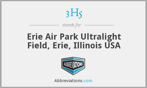 3H5 - Erie Air Park Ultralight Field, Erie, Illinois USA