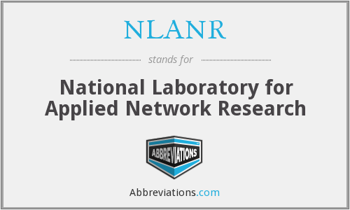 What does NLANR stand for?
