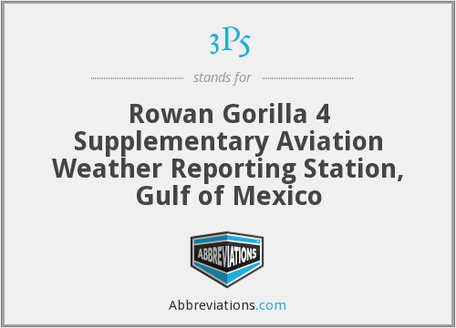 3P5 - Rowan Gorilla 4 Supplementary Aviation Weather Reporting Station, Gulf of Mexico