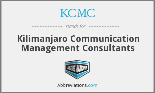 KCMC - Kilimanjaro Communication Management Consultants